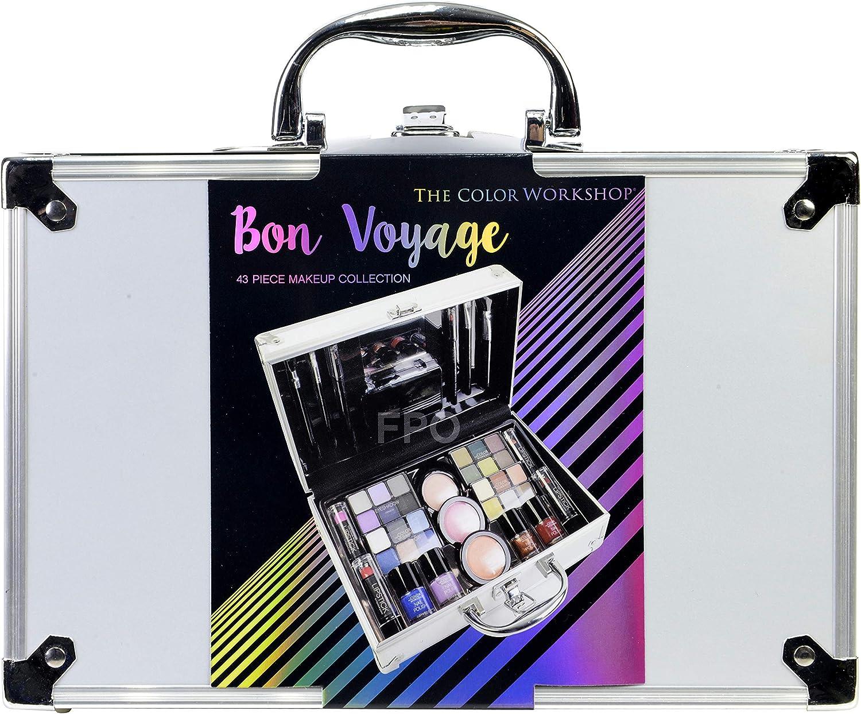 The Color Workshop TCW - Estuche de viaje para maquillaje, 43 piezas, viajes de Bon