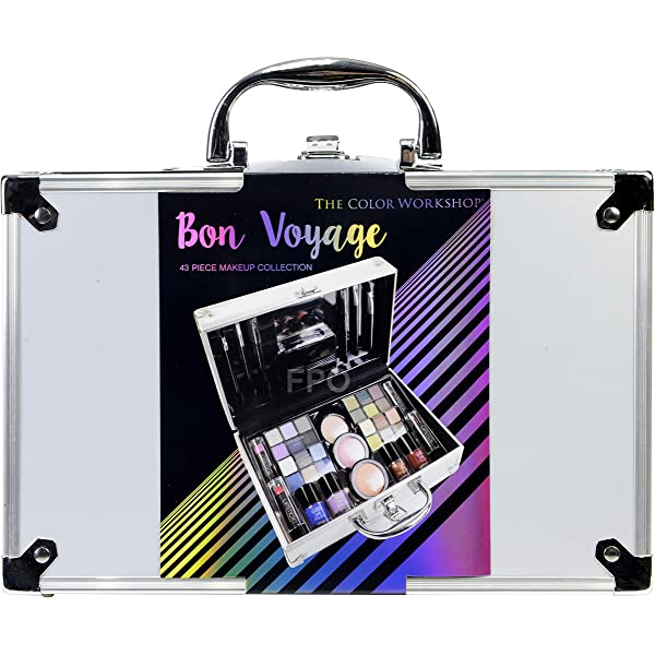 The Color Workshop TCW - Estuche de viaje para maquillaje, 43 piezas, viajes de Bon: Amazon.es: Belleza
