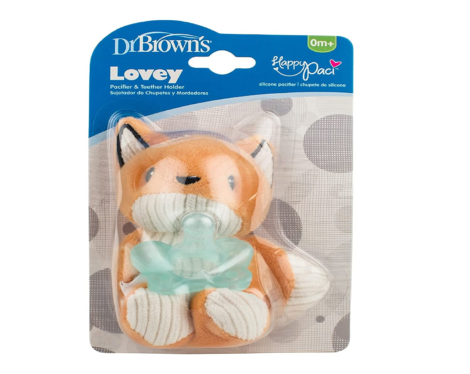 Amazon.com : Dr. Browns Franny the Fox Lovey Pacifier & Teether Holder Orange : Baby