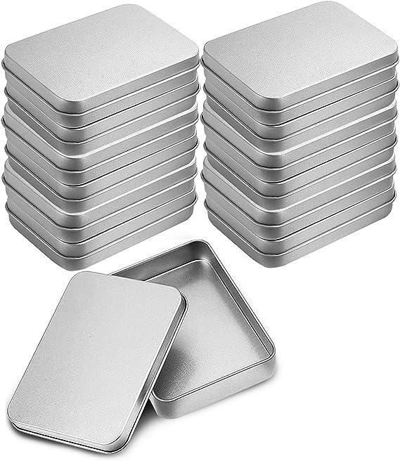 2 Stücke Blechdose Vorratsbehälter Metallklappbox für Süßigkeiten Dosen