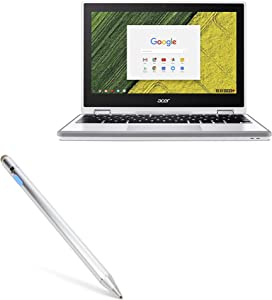 Acer Chromebook Spin 11 (CP511) Stylus Pen, BoxWave [AccuPoint Active Stylus] Electronic Stylus with Ultra Fine Tip for Acer Chromebook Spin 11 (CP511) - Metallic Silver