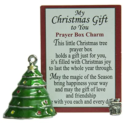 little christmas tree prayer box charm with story card