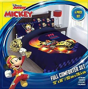 Comforter Set - Mickey Roadster Racer Full