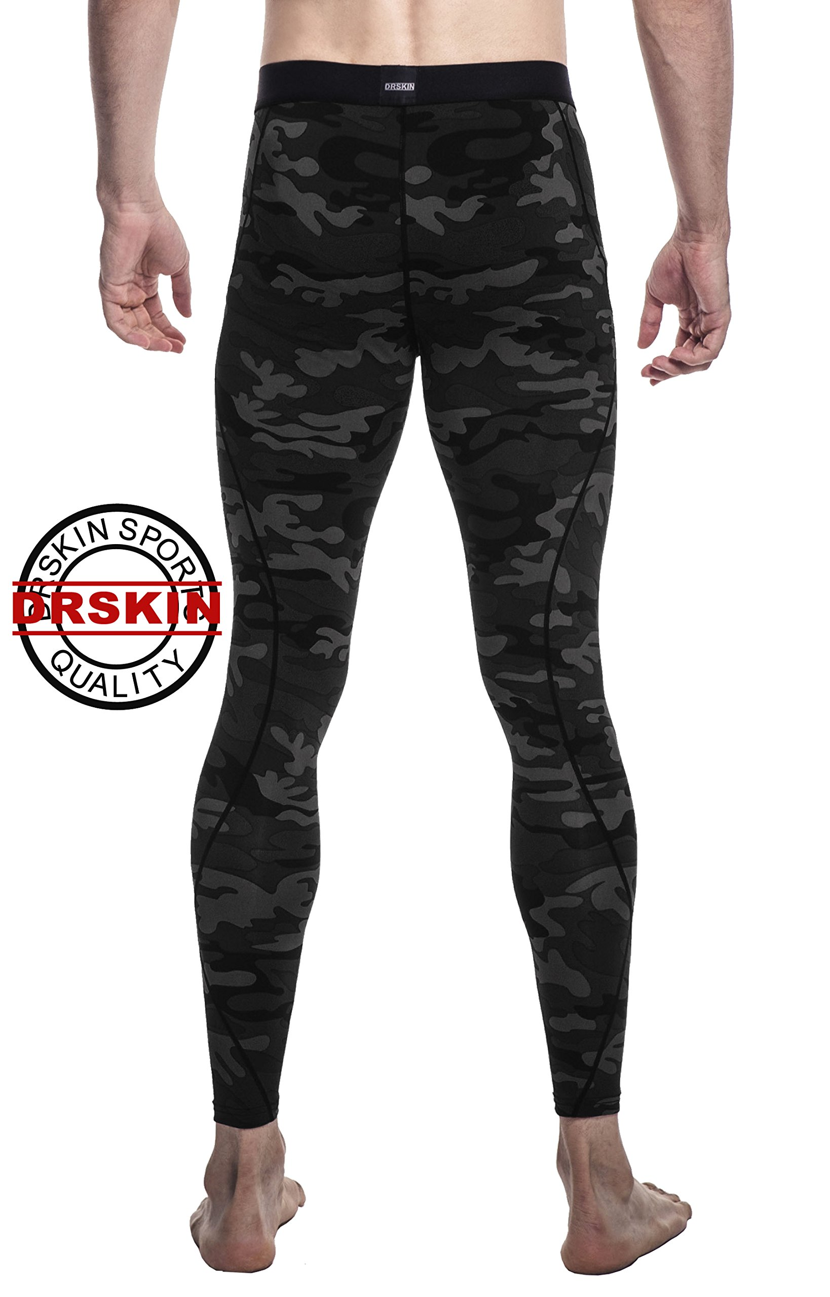 DRSKIN Men's Compression Dry Cool Sports Tights Pants ...
