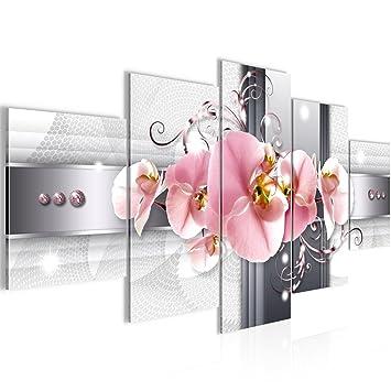 Bilder Blumen Orchidee Wandbild 200 x 100 cm Vlies - Leinwand Bild ...