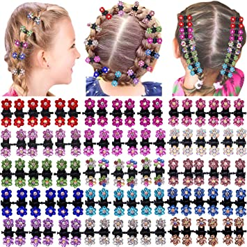 Small crystal flower hair clip for flower girls Pink and purple hair piece