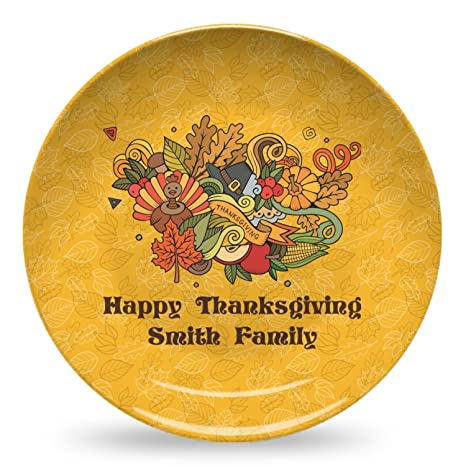 Happy Thanksgiving Microwave Safe Plastic Plate - Composite Polymer (Personalized)  sc 1 st  Amazon.com & Amazon.com | Happy Thanksgiving Microwave Safe Plastic Plate ...