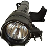 Pitbull LED Flashlight with Holster, Large, Black