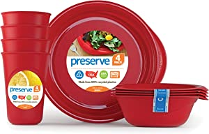 Preserve 20312, Everyday Tableware Set, Pepper Red