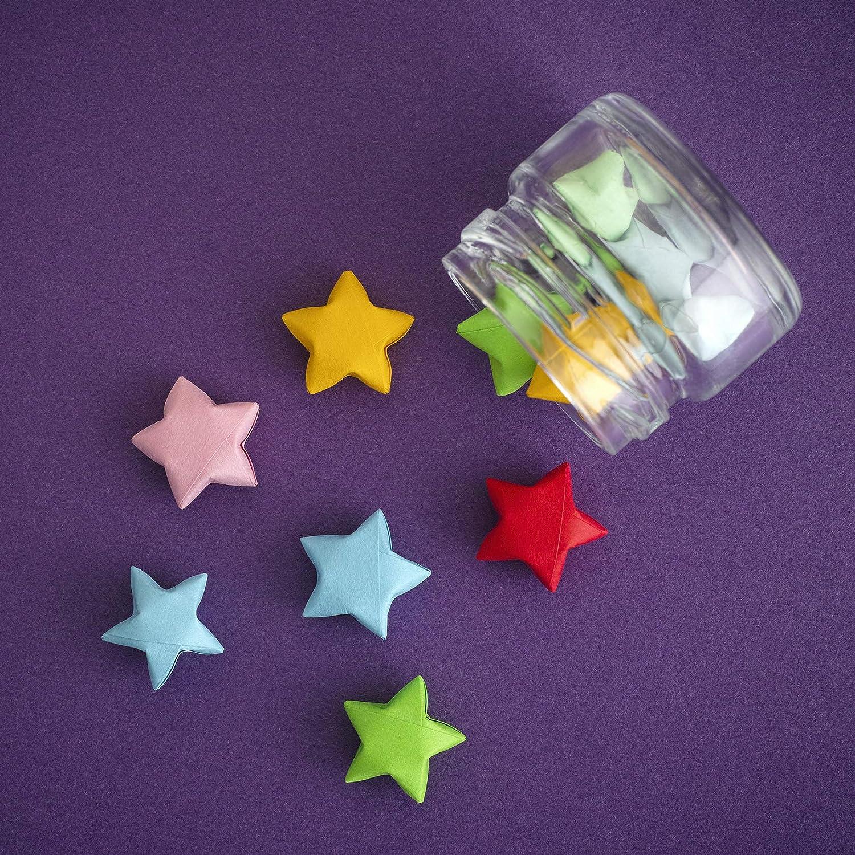 Pour travaux manuels Motif ciel /étoil/é Lumineuses Lot de 2100 bandes de papier pour /étoiles en origami