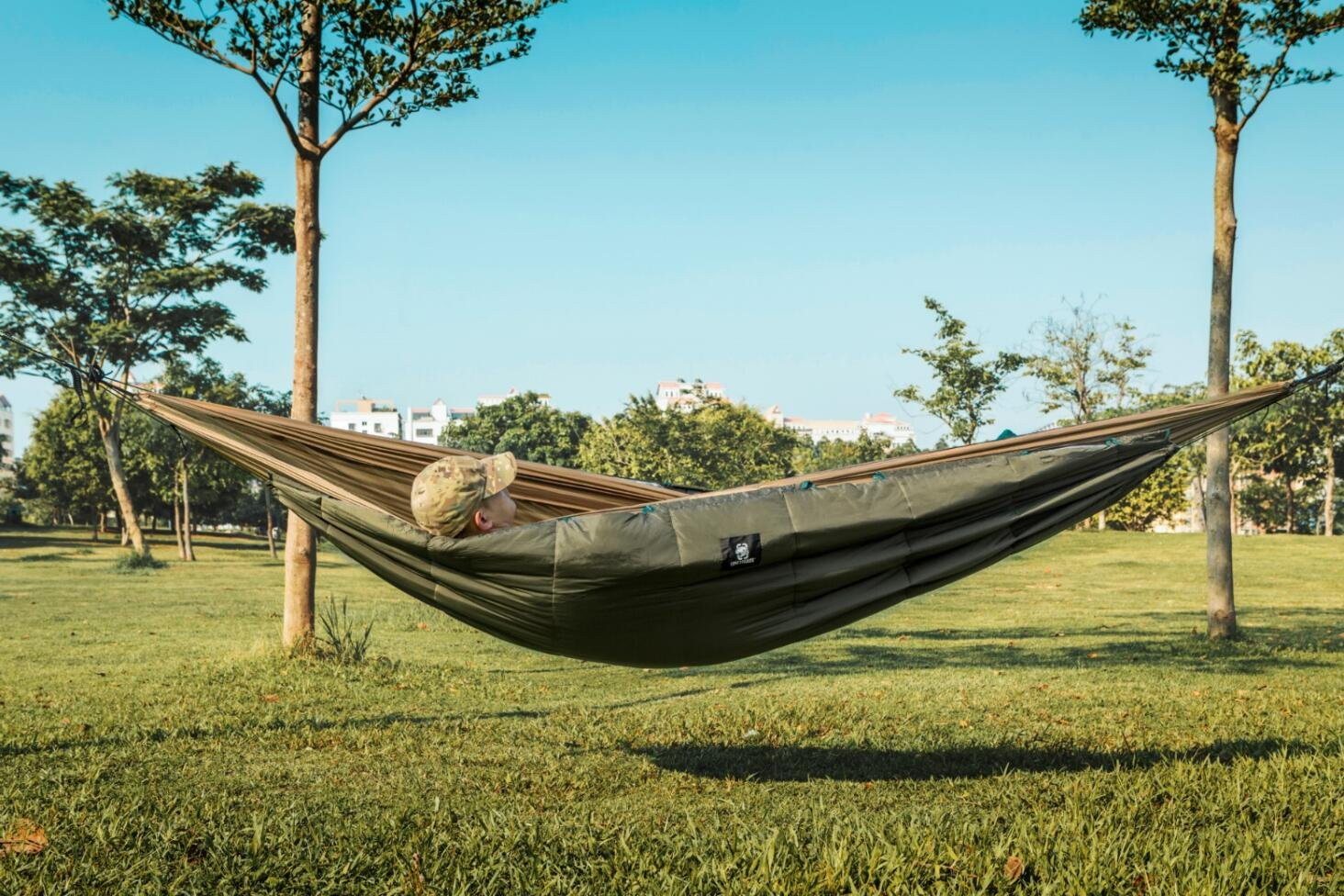 Onetigris Winter Hammock Under-quilt Goose Down Full Length Hammock Underquilt Under Blanket 23 F To 1.4 F Camping & Hiking -5 C To -17 C
