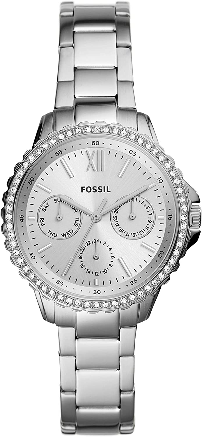 Fossil Women's Izzy Stainless Steel Casual Quartz Watch Silver