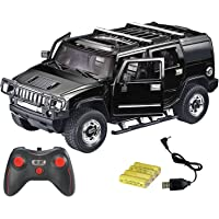 Webby Remote Controlled Hummer with Opening Doors Black