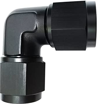 EVIL ENERGY 8AN Female to 8AN Female Straight Swivel Coupler Fitting Adapter Union Aluminium Anodized Black