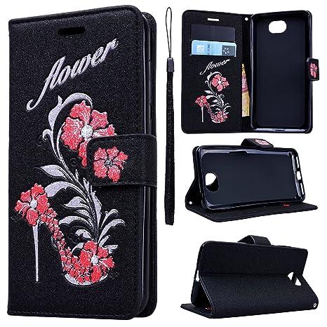 Carcasa Huawei Y5 II, Smart Legend PU Leather Wallet Case ...