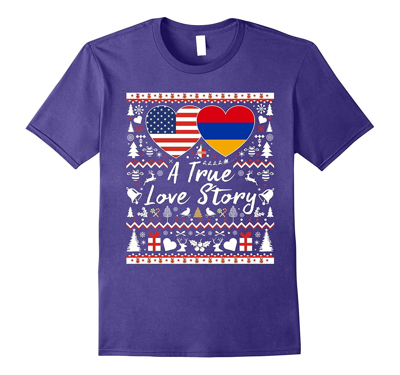 American Armenian A True Love Story Christmas Couple T shirt-FL