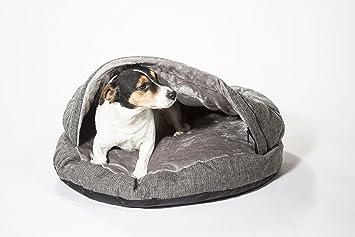 Cuello criaturas perro Cueva Cama, cama de perro, mediano 650 mm (25 cm), color gris: Amazon.es: Productos para mascotas