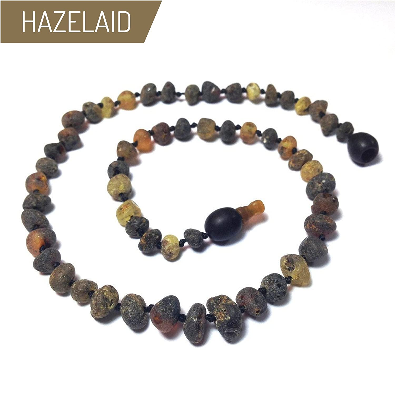 Hazelaid (TM) 12 Pop-Clasp Baltic Amber Asteroid Necklace
