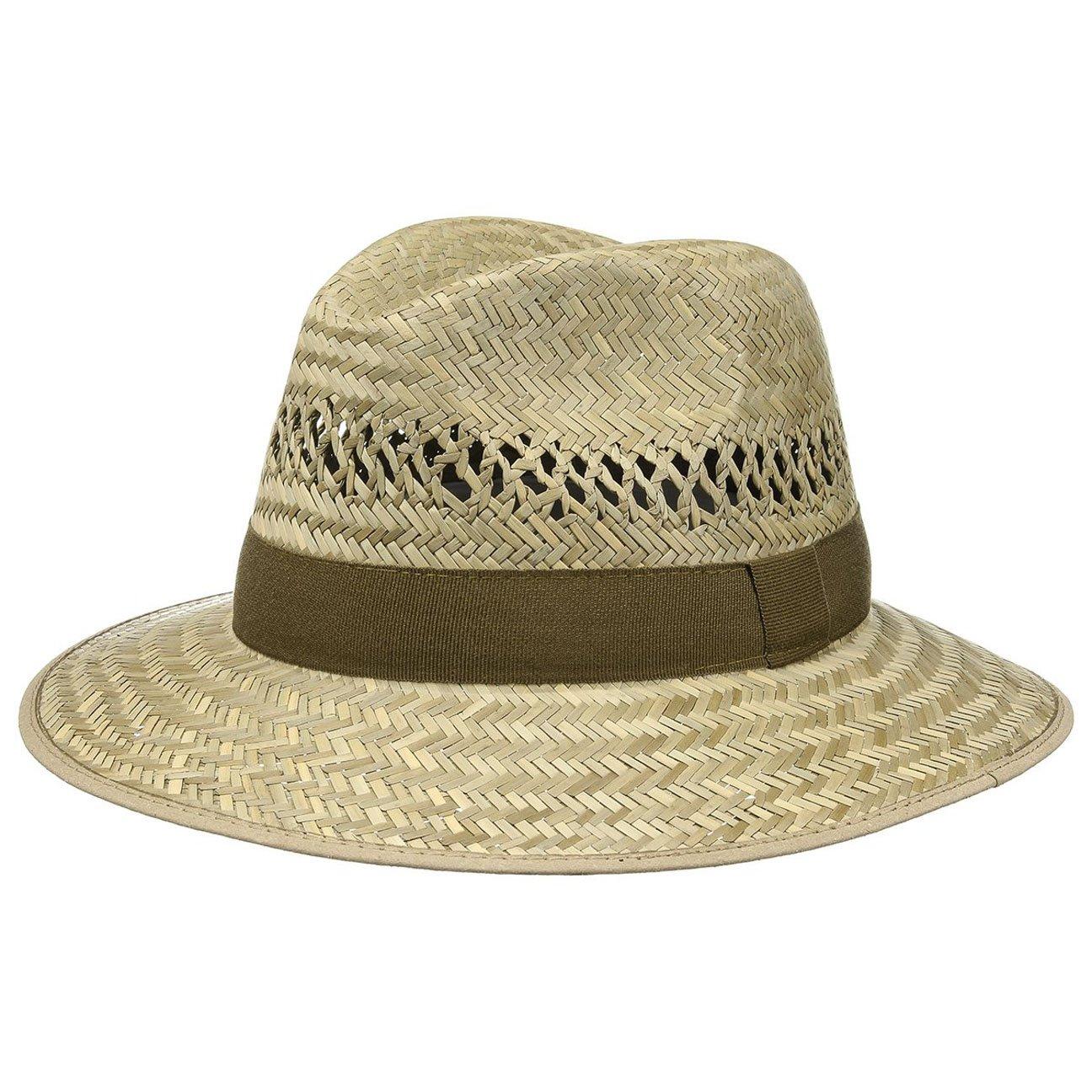 Cappello traveller da vendemmia da uomo | Cappello estivo in 100% paglia | Traveller 55-61 cm | Cappellino di paglia con pistagna e fascia in gros-grain | Cappello da sole prodotto in Italia