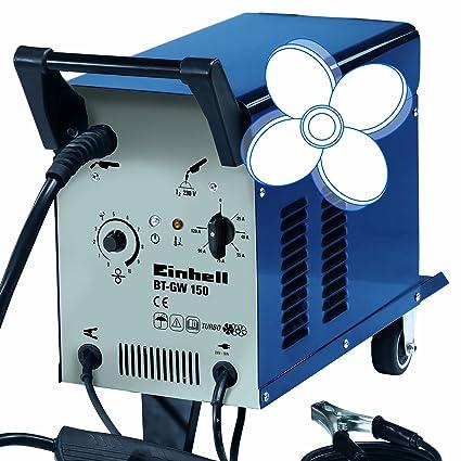 Einhell BT-GW 150 - Soldador hilo (potencia 690 W, flujo de descarga máx. 17.500 l/h, altura de emisión máx. 9 m, profundidad de inmersión máx.