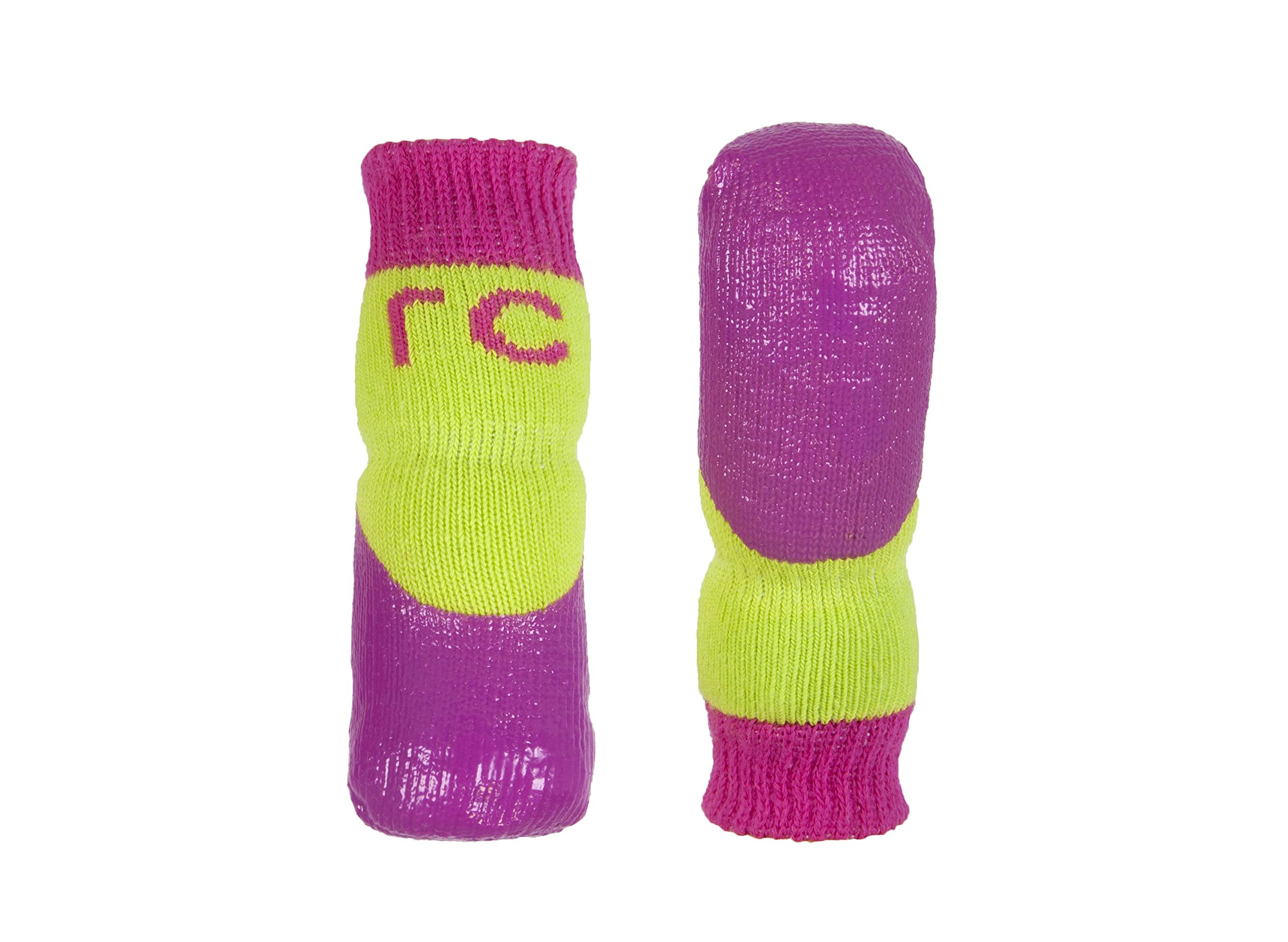 RC Pet Products Sport Pawks Dog Socks, Lime/Azalea, Large