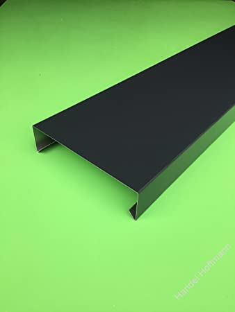 Mauerabdeckung 2 M Lang Aluminium Farbig 08 Mm Groß Anthrazit Ral