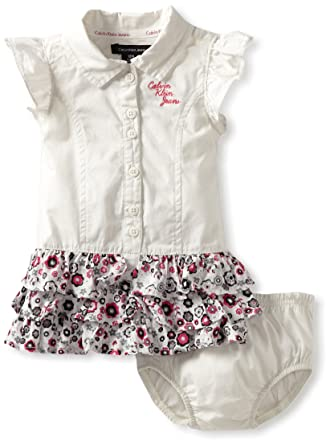5ff37ede98 Amazon.com  Calvin Klein Baby Girls  Dress