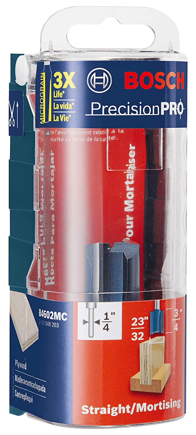 x 3//4 In Bosch 84602MC 23//32 In Carbide-Tipped Plywood Mortising Router Bit