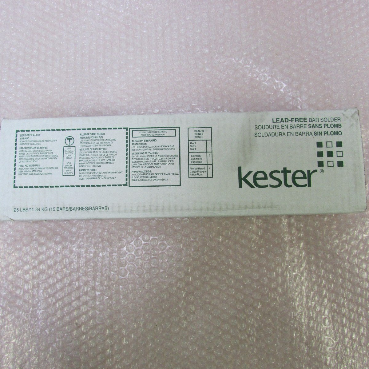 Kester Ultrapure Lead-Free Solder Bar - Sn/Ag/Cu Compound - 04-7068-0000 [PRICE is per Bar]: Amazon.com: Industrial & Scientific