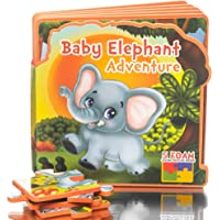 First Puzzles for Toddlers Baby Elephant Adventure Toy Book, Learning activity books for toddlers, Educational toys for…