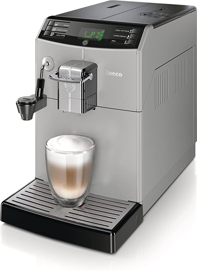 Saeco Minuto HD8772/47 - Cafetera (Independiente, Máquina espresso, 1,8 L, Molinillo integrado, 1900 W, Negro, Plata): Amazon.es: Hogar