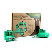 Dog Poo Bags Biodegradable by Ecopaw | 300 Large Scented Poop Bags (20 Rolls of Strong Heavy Duty bags) | FREE Dispenser / Holder for your Pets Lead |Suitable for Small and Big Doggy waste | Extra Thick Leak Proof | No need for Pooper Scooper - Pop in any Doggie Doo Bin | 100% Money Back Guarantee | Available on Amazon Prime