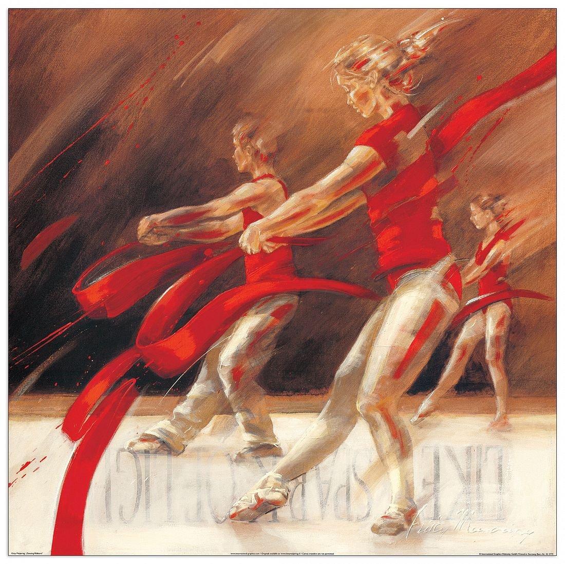 Artopweb MEIJERING - Dancing ribbons (Decorative Panel 70x70 cm) EC20459