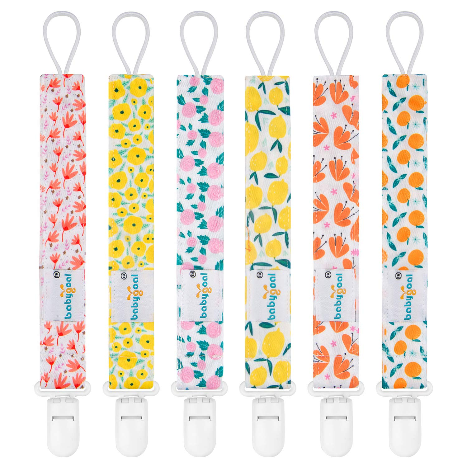 Babygoal  6 Pack Pacifier Clips for Girls $6.36 Coupon