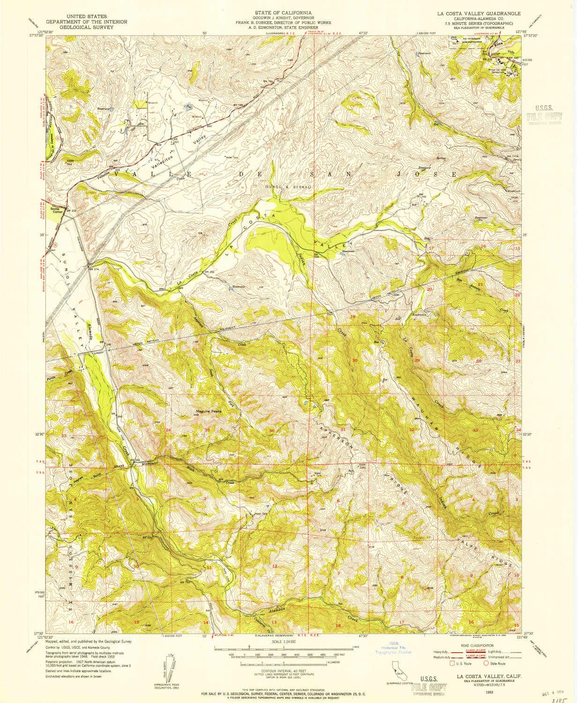 Amazon.com : YellowMaps La Costa Valley CA topo map, 1:24000 ...