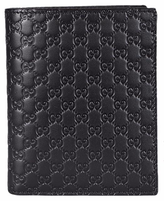 829f1a12909c Gucci Men's Leather Micro GG Guccissima Vertical Bifold Wallet (Black  292533): Amazon.ca: Clothing & Accessories