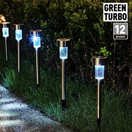 greenturbo updated version solar garden lights outdoor landscape
