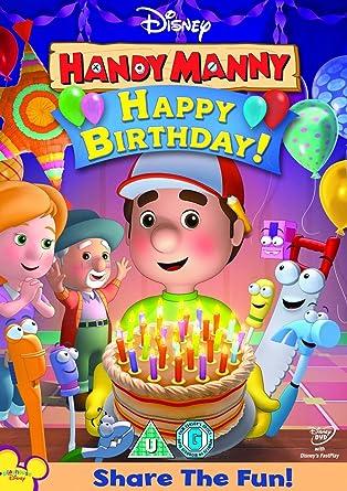 Enjoyable Amazon Com Handy Manny Mannys Birthday Party Cinco De Mayo Dvd Birthday Cards Printable Inklcafe Filternl