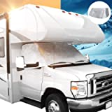 Leisure Coachworks RV Windshield Window Cover for Class C Ford 1997-2021 Motorhome Windshield Snow Cover for RV Front…