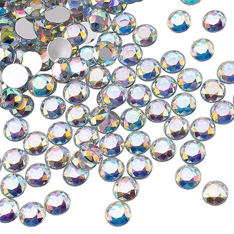 50 Stück Ø10-18 mm Acryl-Strass-Steine Schmucksteine zum aufnähen