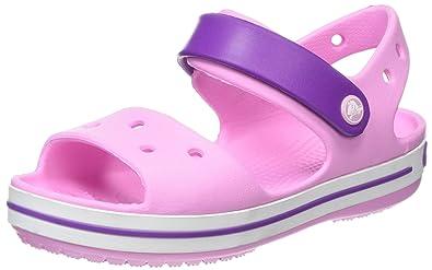 e3ddd73a9635f Crocs Baby Crocband Sandal Clog Carnation Amethyst 4 M US Toddler