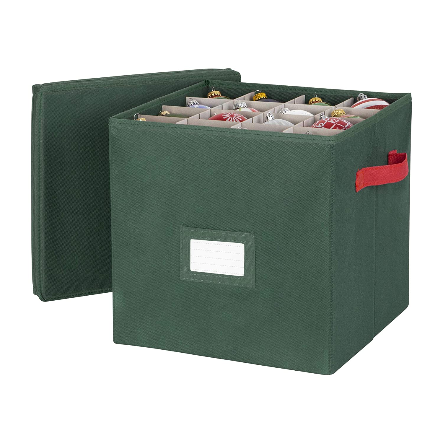 Richards Homewares - Holiday Green 64 Compartment Cube Ornament Organizer RI-64564
