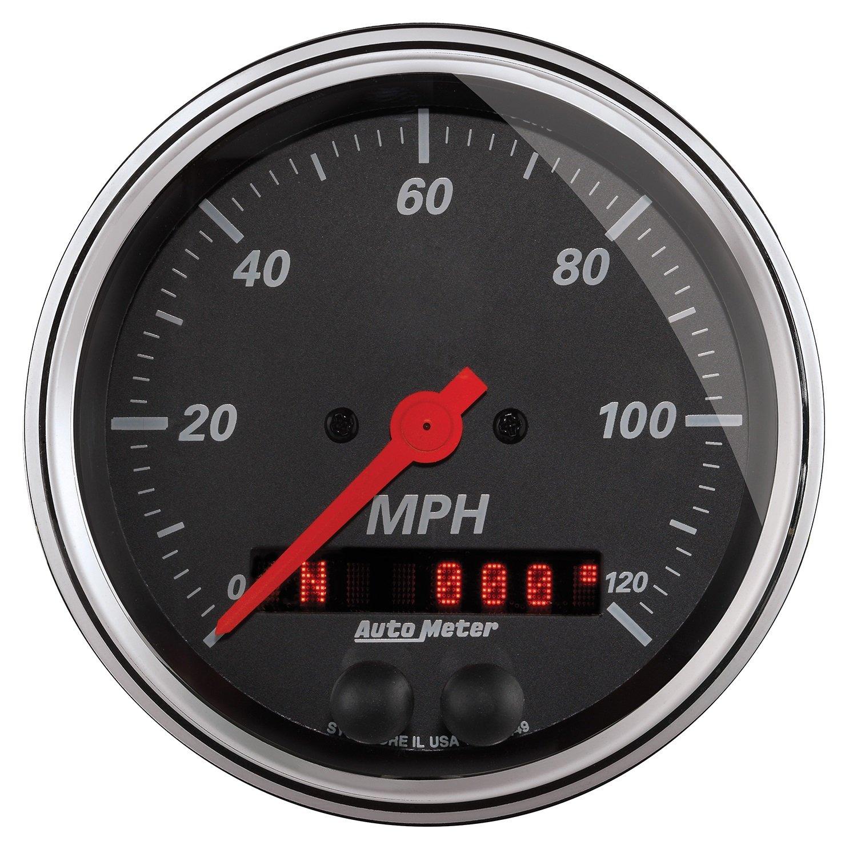 Auto Meter (1449) Designer Black 3-3/8'' 120 MPH GPS Speedometer Gauge by Auto Meter (Image #1)