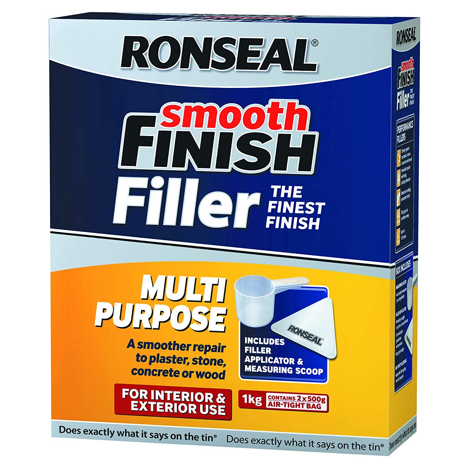 Ronseal Smooth Finish Multi-Purpose Interior Wall Powder Filler 1Kg RSLMPPF1KG