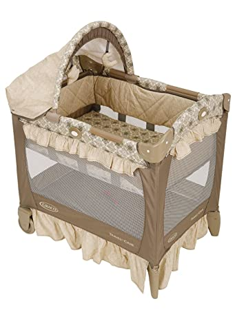 Graco Travel Lite Crib with Bassinet  Marlowe  Discontinued by Manufacturer. Amazon com   Graco Travel Lite Crib with Bassinet  Marlowe