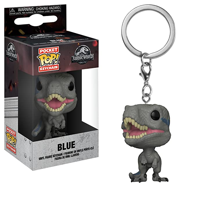 Amazon.com: Funko Pop Keychain: Jurassic World 2 - Blue Velociraptor Collectible Figure, Multicolor: Toys & Games