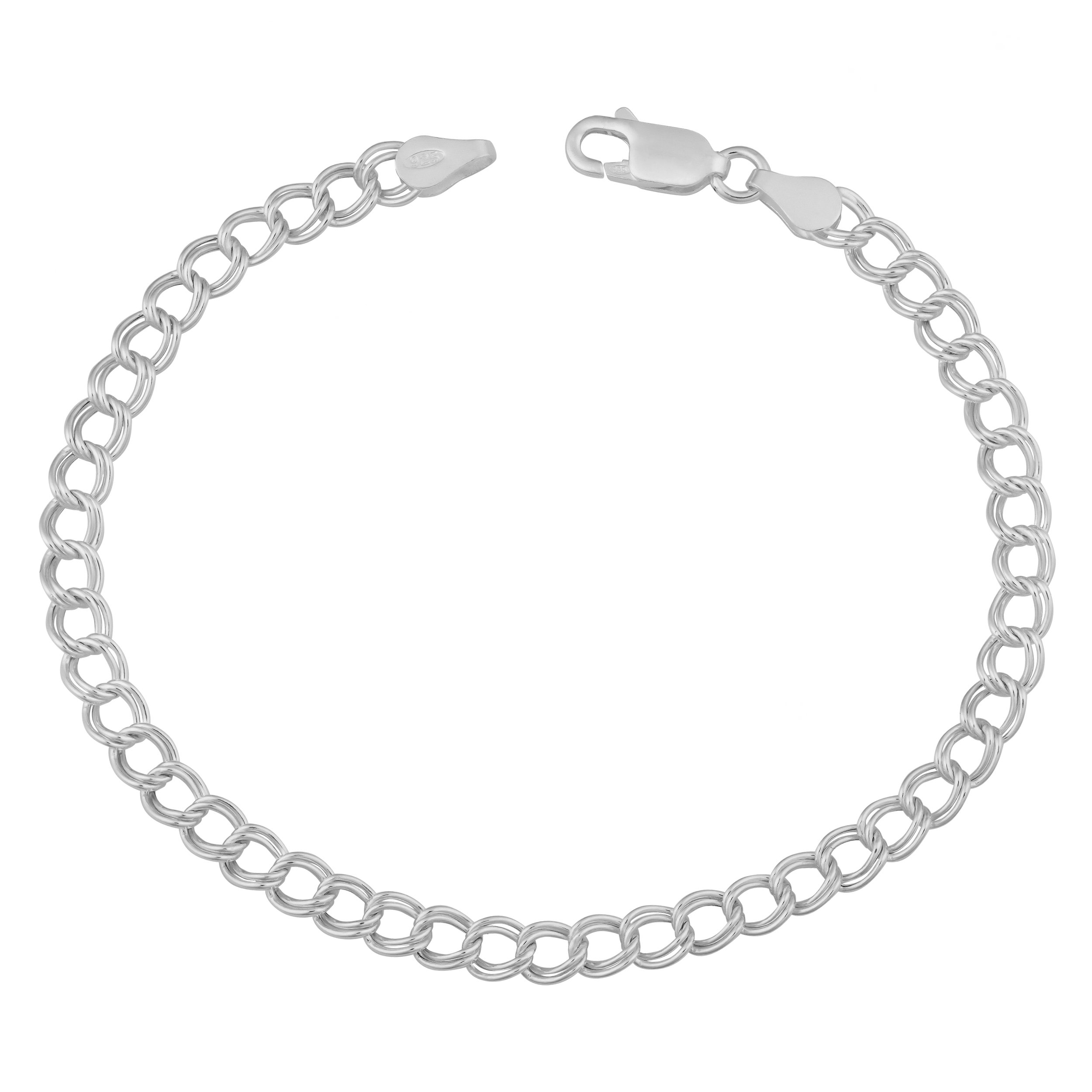 Sterling Silver 4.5-mm Classic Lite Charm Bracelet (7.5 Inch)