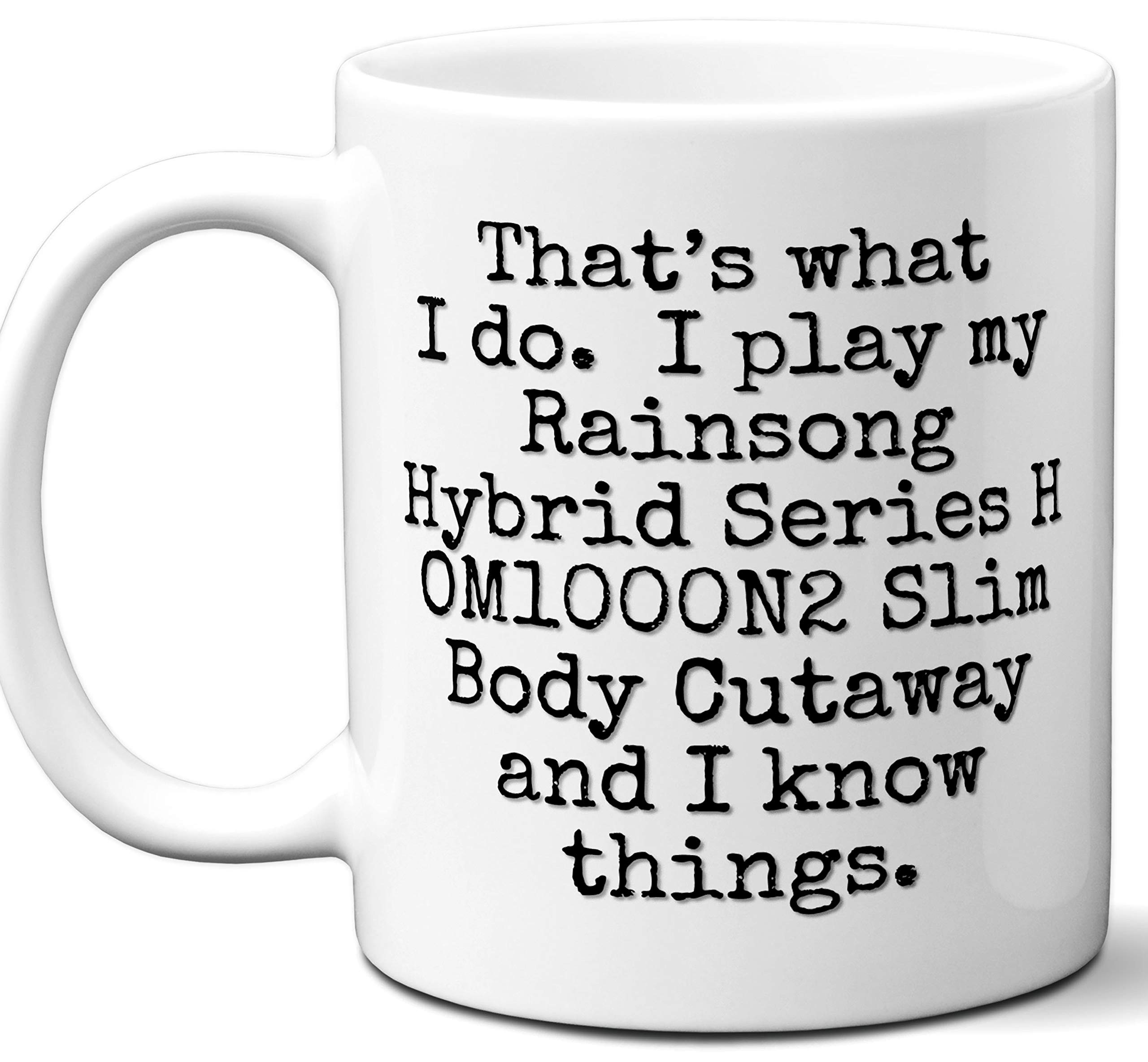 Guitar Gifts Mug. Rainsong Hybrid Series H OM1000N2 Slim Body Cutaway Guitar Players Lover Accessories Music Teacher Lover Him Her Funny Dad Men Women Card Pick Musician Acoustic Unique by Ombura
