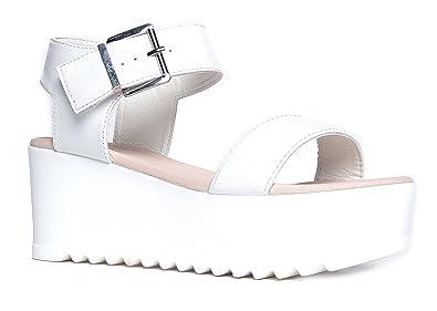 9977d6b67c Amazon.com | J. Adams Surf Women's Platform Open Toe Buckle Sandal ...