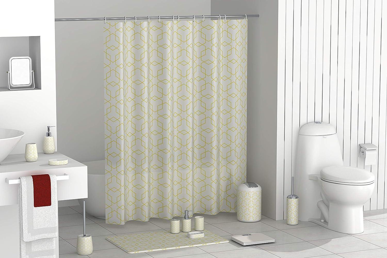 Quadrato con Ventose Bianco Misura 52x52 cm PVC Trasparente BM 4389 Tappetino Antiscivolo da Bagno per Doccia